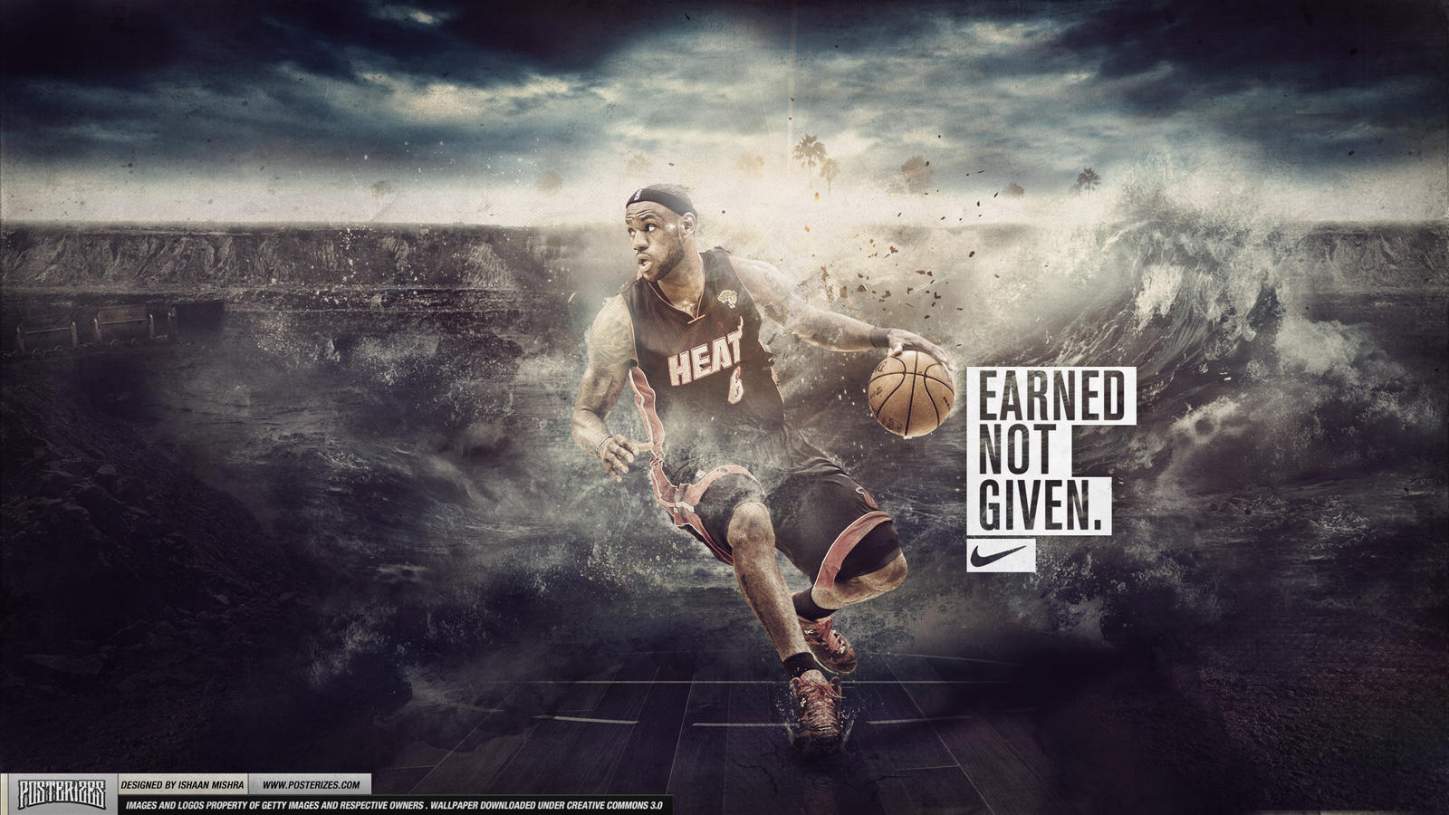 LeBron James - Earned Not Given Wallpaper by Angelmaker666