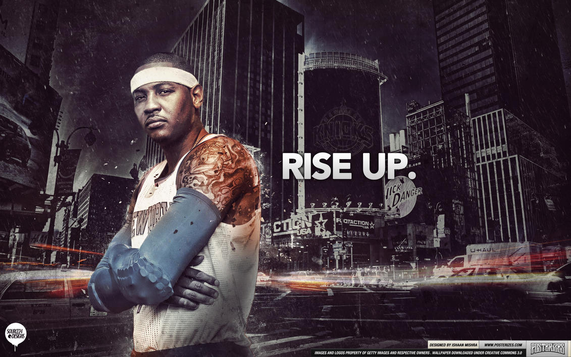 Carmelo anthony rise up wallpaper by ishaanmishra on deviantart carmelo anthony rise up wallpaper by ishaanmishra voltagebd Images