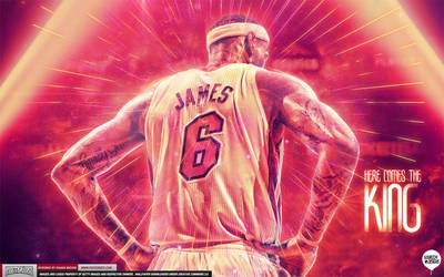 LeBron James Here Comes the King Wallpaper by IshaanMishra
