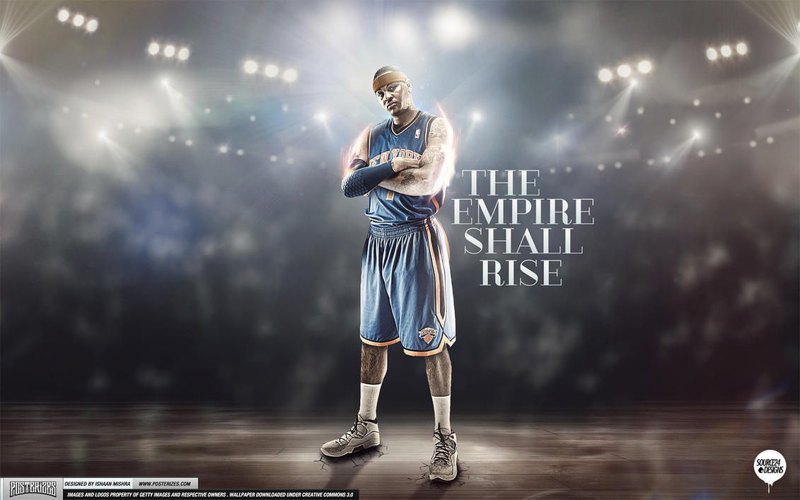 Carmelo Anthony Knicks Empire Wallpaper by IshaanMishra