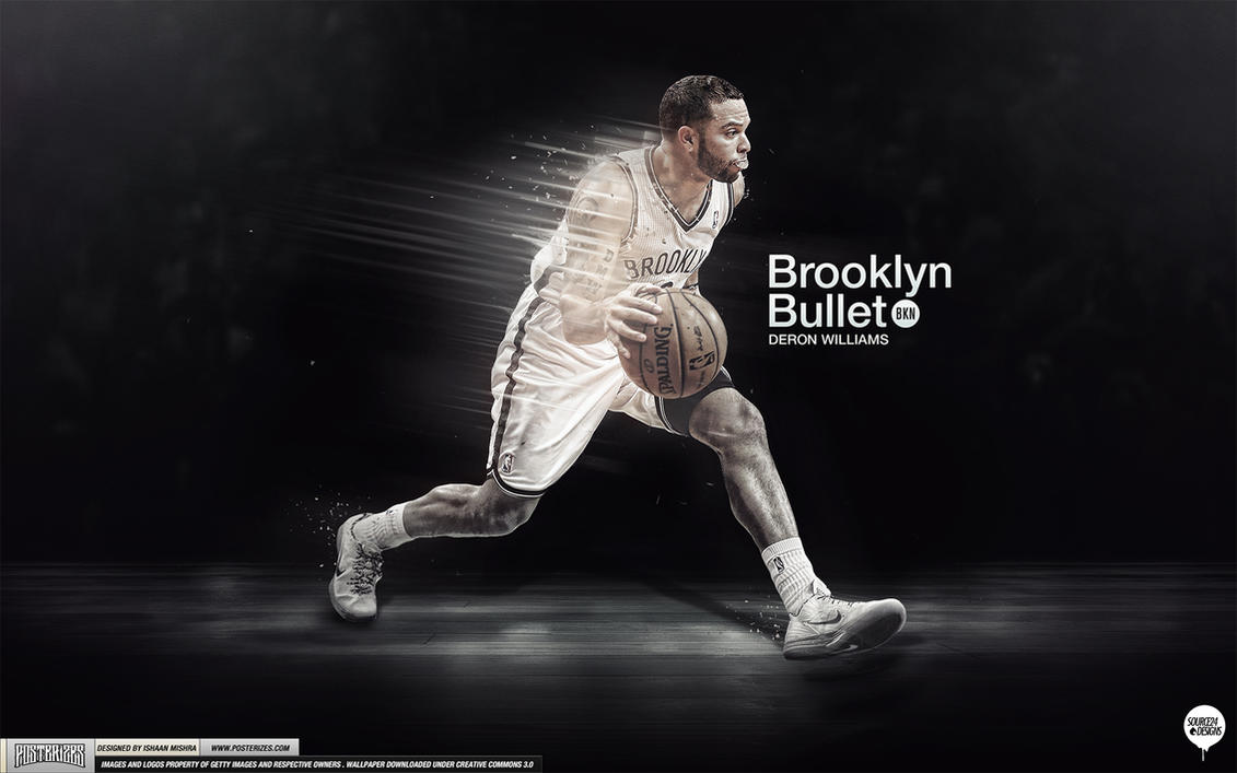 Deron Williams Brooklyn Bullet Wallpaper by Angelmaker666