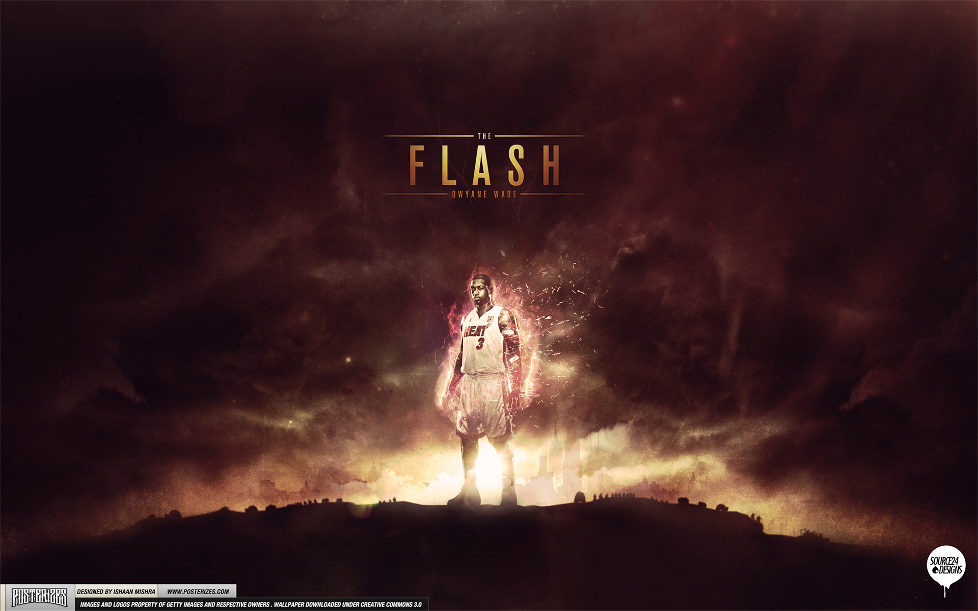 Dwyane Wade 'The Flash' Wallpaper by IshaanMishra