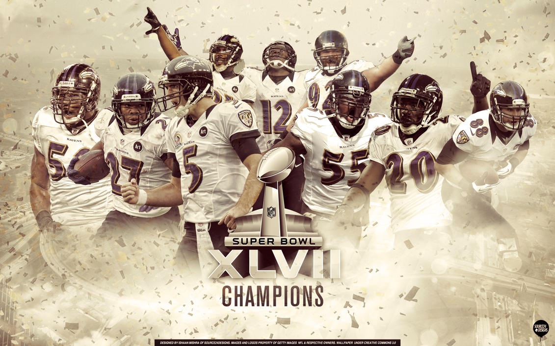 Baltimore Ravens Superbowl Champions Wallpaper by IshaanMishra