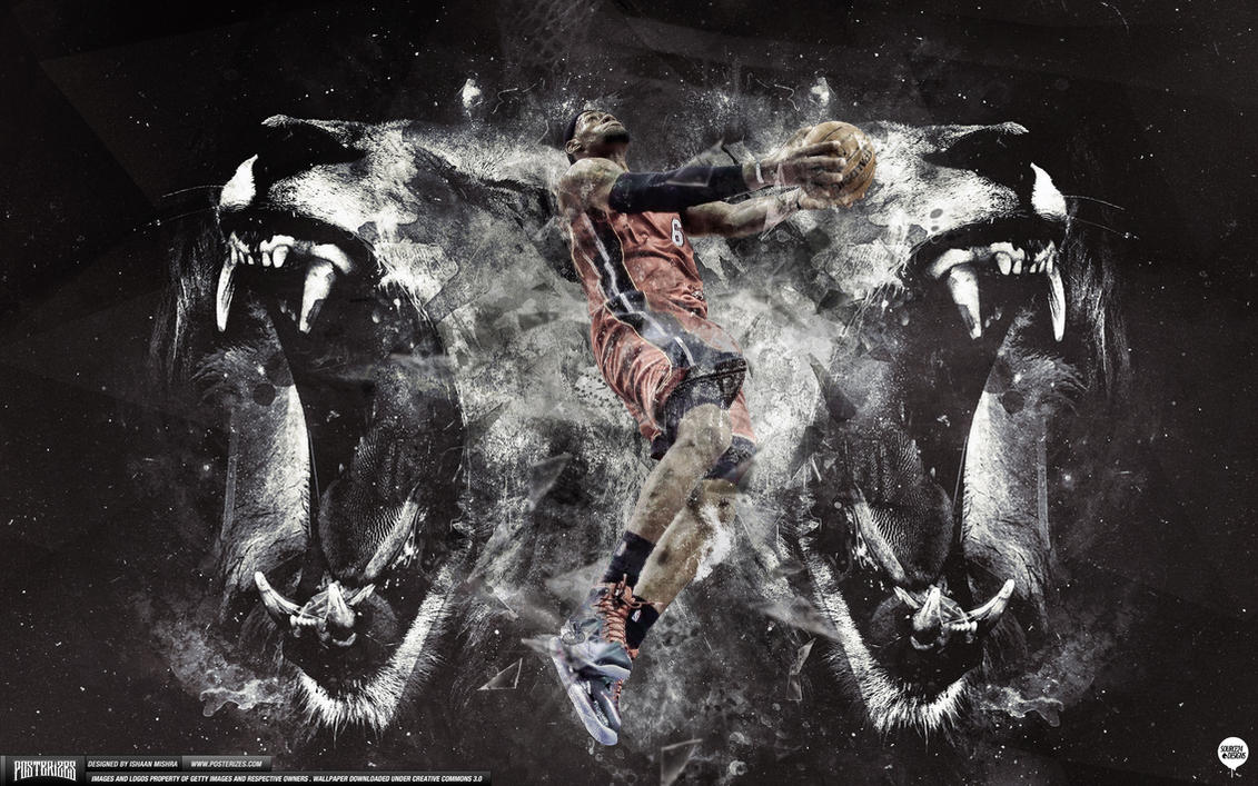 lebron james lion heart wallpaper by angelmaker666 on