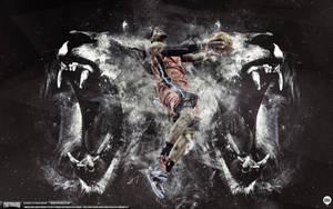 LeBron James Lion Heart Wallpaper by IshaanMishra