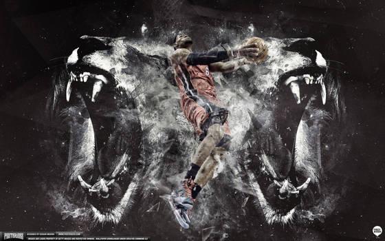 LeBron James Lion Heart Wallpaper