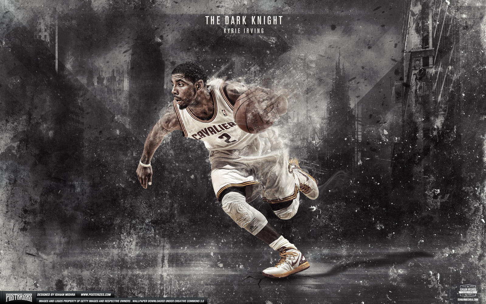 kyrie irving dark knight wallpaper by ishaanmishra on
