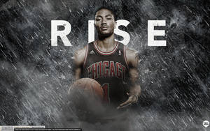 Derrick Rose Rise Wallpaper by IshaanMishra