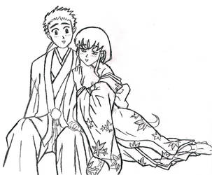 Ayeka and Tenchi by murasakirain