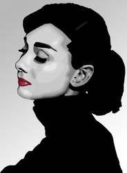 Audrey Hepburn Vector by murasakirain