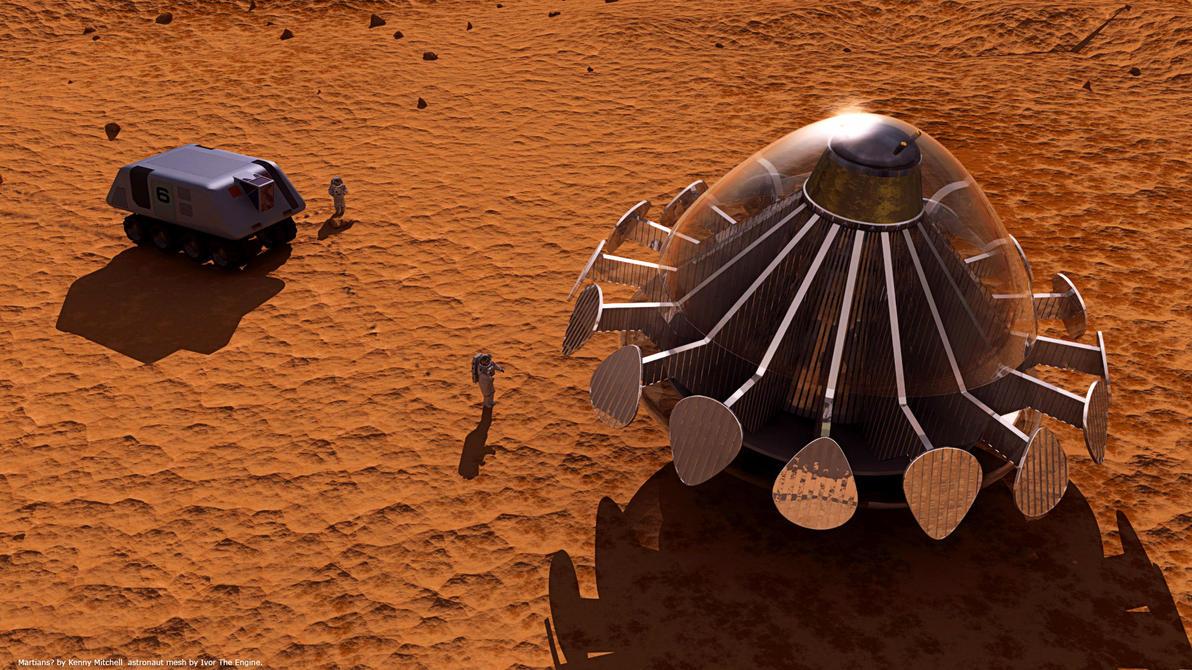 Martian Ufo Final by axeman3d