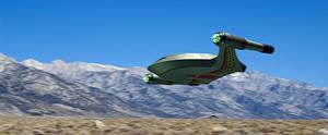 Romulan TOS shuttle flying