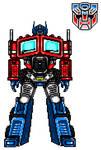 Optimus Prime (Pixel Art)