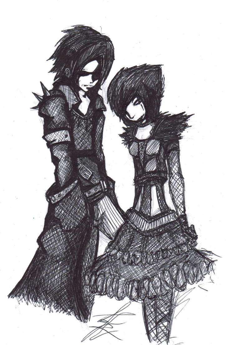 Goth Couple By LawlietRiverRose On DeviantArt