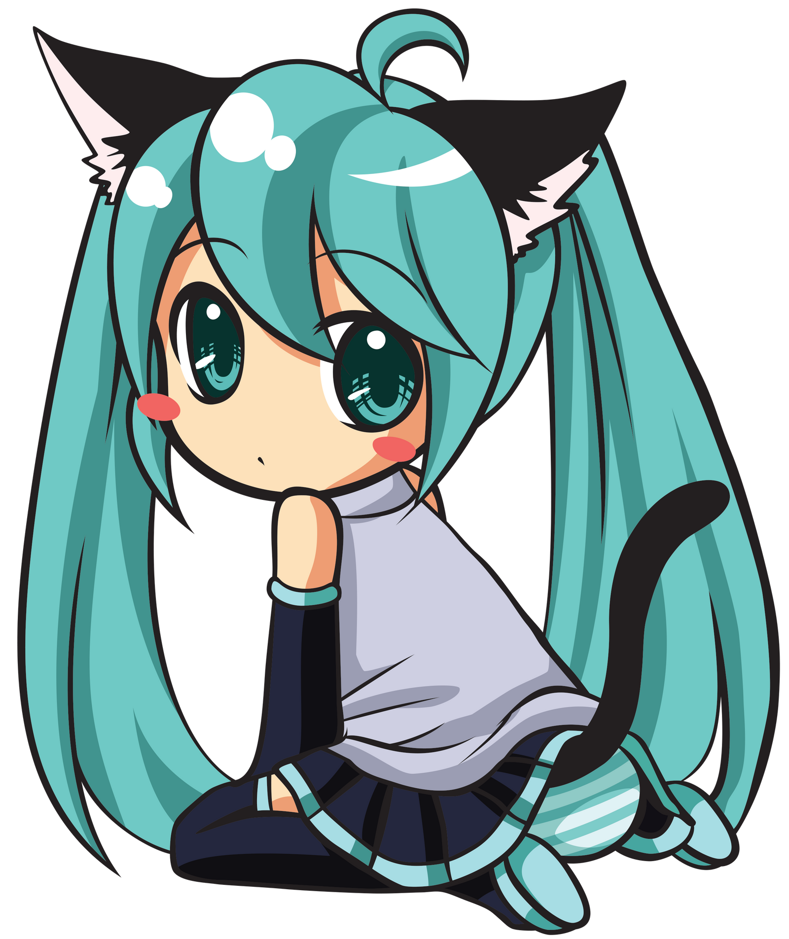 Hatsune Miku Chibi Vector by katsaysmeh on DeviantArt