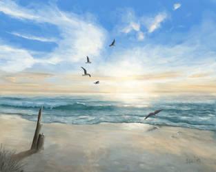 Beach Sunrise by sgl17
