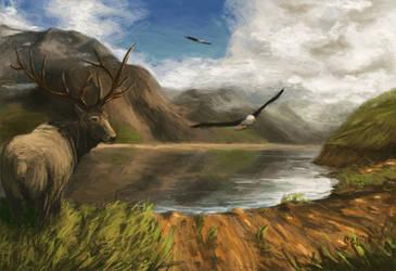 Mountain Lake by sgl17