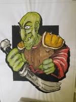 My old paint of my half-goblin