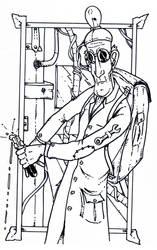 Scientist in a steam punk World
