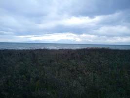 Field across Mount Olympus by lamogios