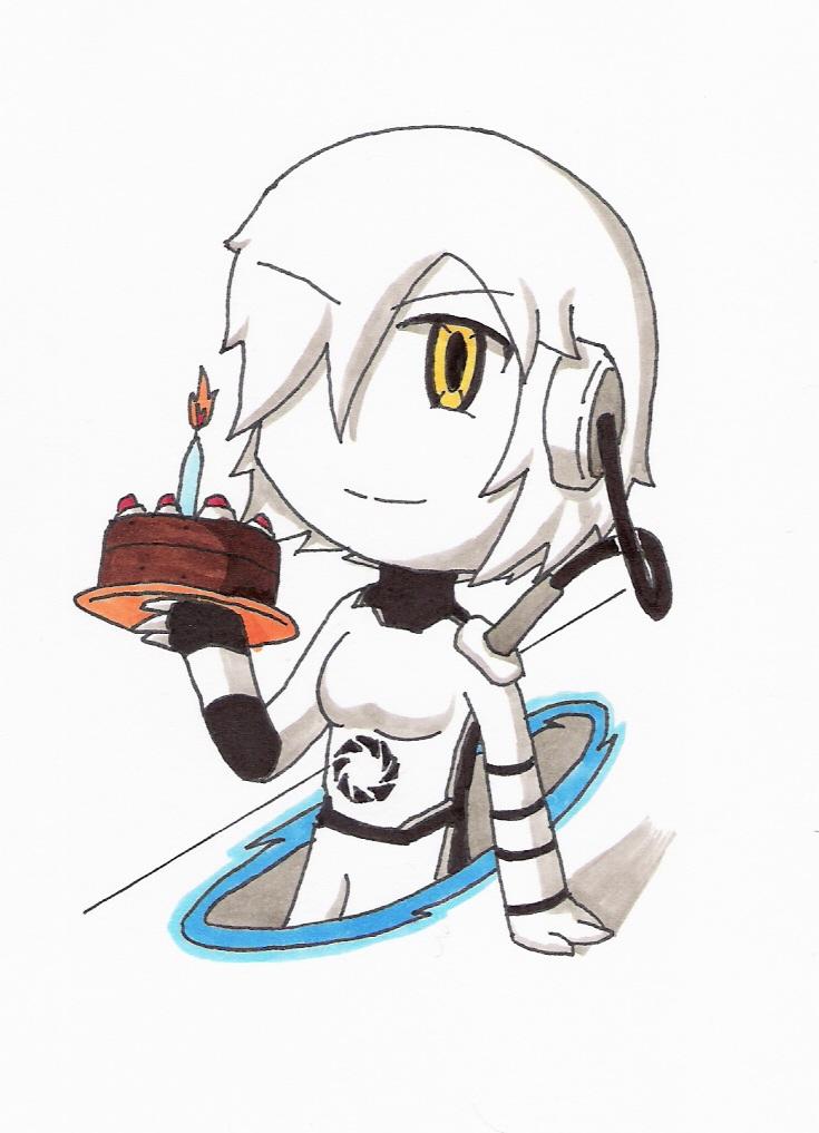 Chibi GLaDOS Portal 1 by animeandrew1