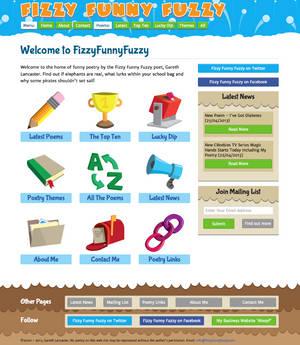 Fizzy Funny Fuzzy Poetry Website Design