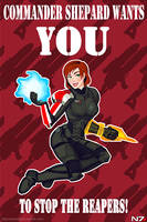 Femshep Pinup by CrystalGrazianoArt