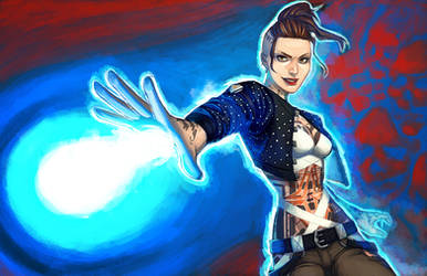 Biotic Bitch by CrystalGrazianoArt