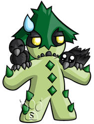 Cacturne Chibi by RedPawDesigns