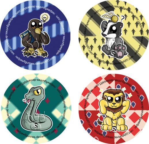 Harry potter house badges hogwarts house mascot badges