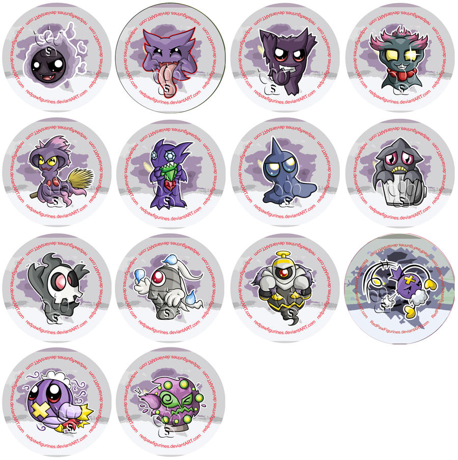 All Ghost Type Pokemon...