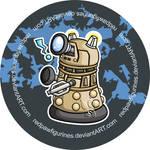 Dalek Chibi Badge