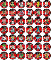 Bug Type Pokemon Chibi Badges by RedPawDesigns