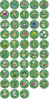 Grass Type Pokemon Badges by RedPawDesigns