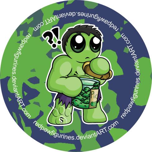 Hulk Chibi Hulk Chibi Badge by