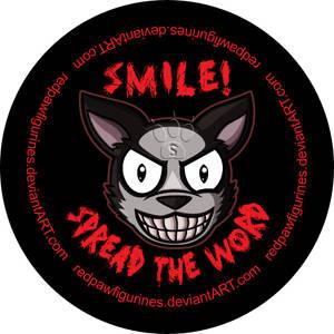 Smile Dog Chibi Badge