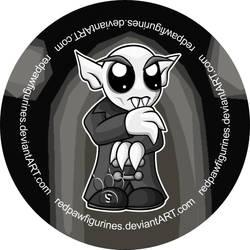 Nosferatu Chibi Badge by RedPawDesigns