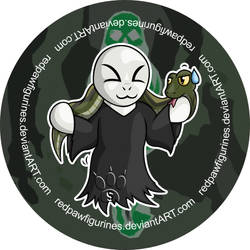 Voldemort Chibi Badge by RedPawDesigns