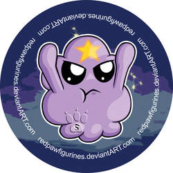 Lumpy Space Princess Chibi Badge by RedPawDesigns