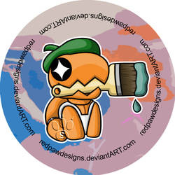 Painter Trapinch Badge Commission by RedPawDesigns