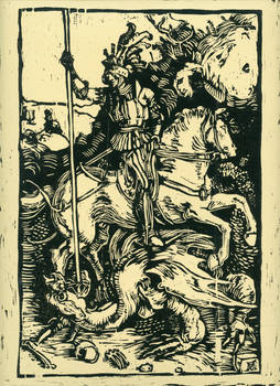 Study of Saint George Slays the Dragon by Durer