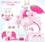 Adoptable -Strawberry Milk Dragon- CLOSED by Viclesu