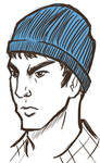 Sketch Request : Spock in Hat by Sweet-Nectarine