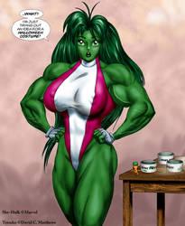 Tetsuko as 'She-Hulk' by DavidCMatthews