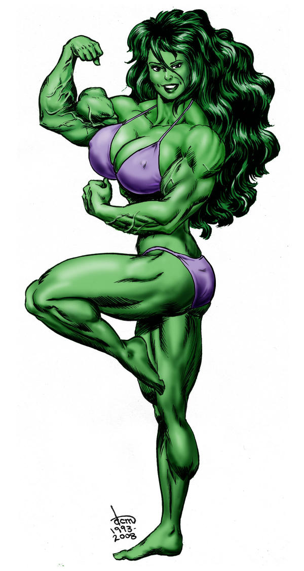 She-Hulk - bikini version by DavidCMatthews