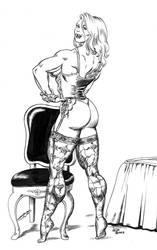Satin in lingerie - 1993 by DavidCMatthews
