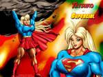 Tetsuko as 'Supergirl'