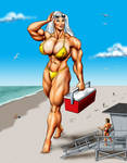 Olga at the Beach - commission