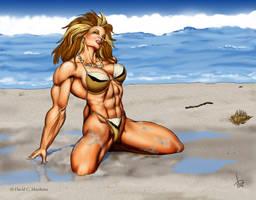 Leenah on the Beach