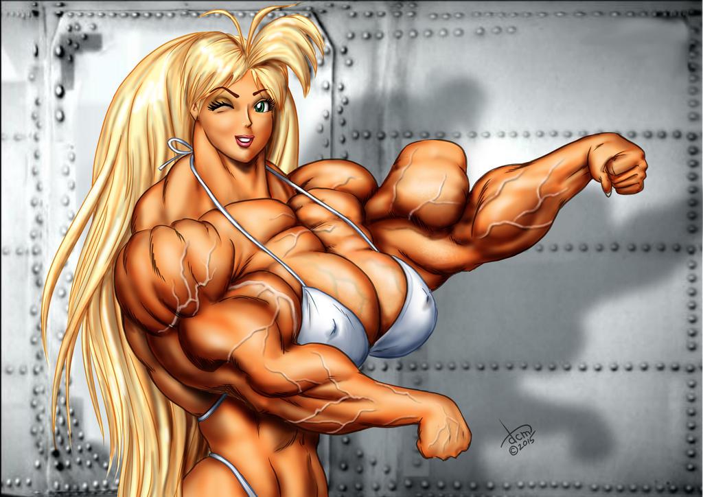 Tetsuko hits an ''Arnold pose'' by DavidCMatthews